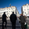People on a zebra crossing, Rossio square, Lisbon