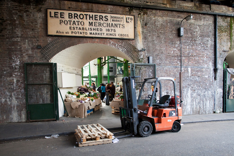 Archway in Borough market, London, England, United Kingdom