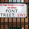 Pont street sign, Kensington, London, England, United Kingdom