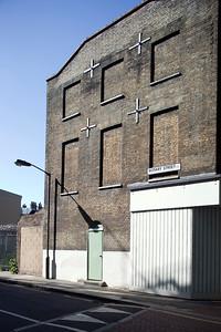Brick wall on Rotary Street, Southwark, London, England, United Kingdom
