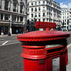 Letter box, Regent street, Westminster, London, England, United Kingdom