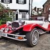 Vintage car, Pont stret area, Kensington, London, England, United Kingdom