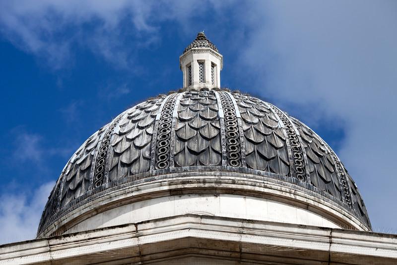 National Gallery dome, London, England, United Kingdom
