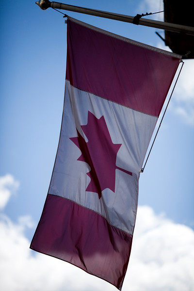 Canadian flag, London, England, United Kingdom