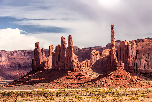 The Totem Pole at Monument Valley