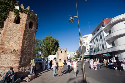 Modern buildings beside the medina walls, Tetouan, Morocco