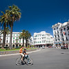 Kids riding a bike, Hassan II square, Tetouan, Morocco