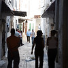People walking on the medina or old tow, Tetouan, northern Morocco, Africa