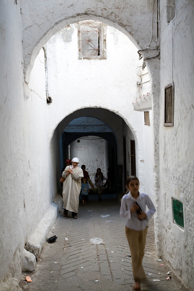 Typical medina street, Tetouan, Morocco