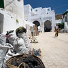 Basket and bags containing charcoal, Tetouan medina, Morocco