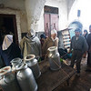 Milk delivery in the souk, Tetouan, Morocco