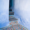 Typical hydraulic tile, Chefchaouen, Morocco
