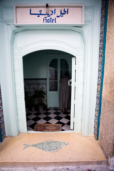 Little hotel in the medina, Tetouan, Morocco