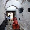 Gas bottle delivery in the medina, Tetouan, Morocco