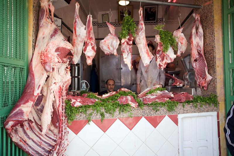 Butcher's shop in the medina, Tetouan, Morocco