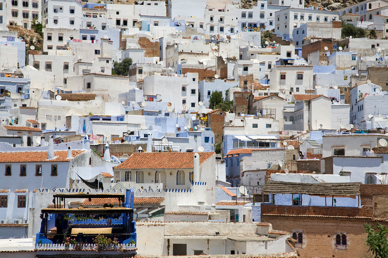 Panoramic view of Chefchaouen, Morocco