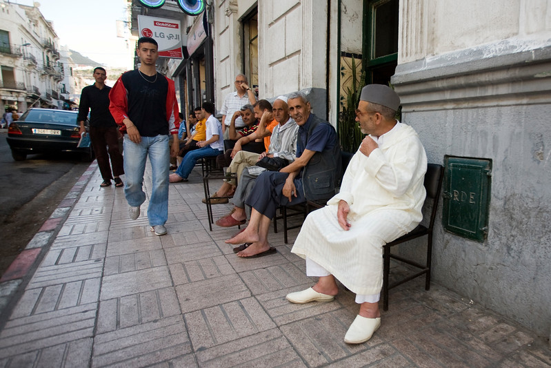 Men sitting on a cafe terrace, Tetouan, Morocco