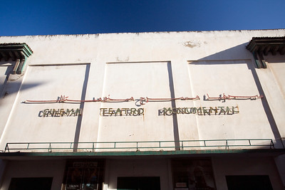 "Old Colonial Spanish cinema, ""Cinema Teatro Monumental"", Tetouan, Morocco"