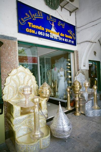 Wedding goods store, Tetouan, Morocco