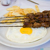 Kebab with egg and potatos, Morocco
