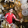 Brass and metalware shop in the souk, Tetouan medina, Morocco