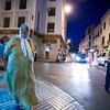 Night scene in the Spanish quarter, Tetouan, Morocco