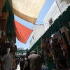 Shaded souk with canopies, Tetouan medina, Morocco