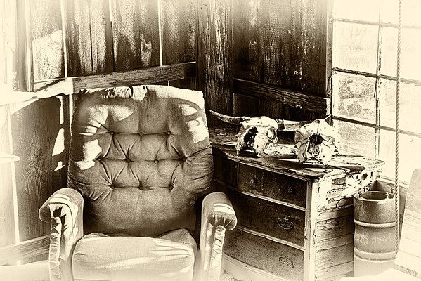 The old comfy chair by the window
