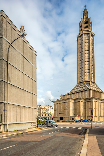 St. Joseph's Church, Le Havre, France, design by Auguste Perret (1951-1958)