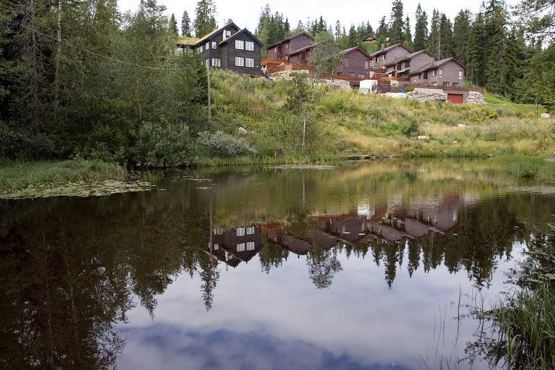 Oslo is a city plenty of natural spaces. Foliage and water are eveywhere.