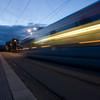 Long exposure shot for motion blur effect.