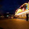 Moody, atmospheric images of a fun fair in downtown Oslo. Long exposure shots.