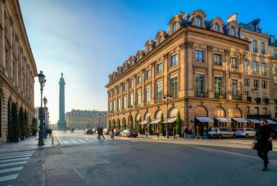 Place Vendome from Rue de la Paix, Paris, France.
