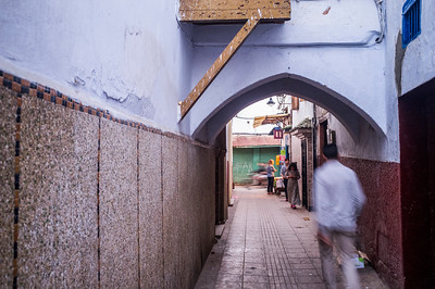 Street of the Medina (old town), Rabat, Morocco.