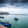 Fishing boats in Bou Regreg River, Rabat, Morocco