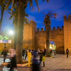 Medina walls and gate,  Bab el Had Square, Rabat, Morocco