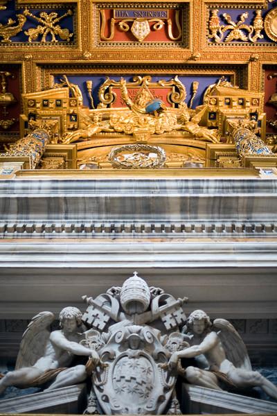 Detail of the ceiling, Saint John Lateran, Rome