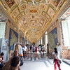 People visiting the gallery of the maps, Vatican Museums