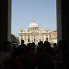 Framed view of Saint Peter basilica, Vatican