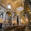 Interior of Maddalena church, Rome