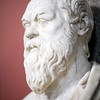 Bust of Socrates. Marble, Roman copy after a Greek original from the 4th century BC, Vatican Museums