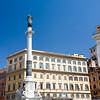 Piazza di Spagna with the Immacolata monument, Rome