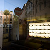Piazza di Spagna reflections on Sergio Rossi shop window, Rome