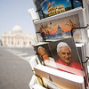 Vatican postcards with the image of the popes Benedict XVI and John Paul II, Vatican