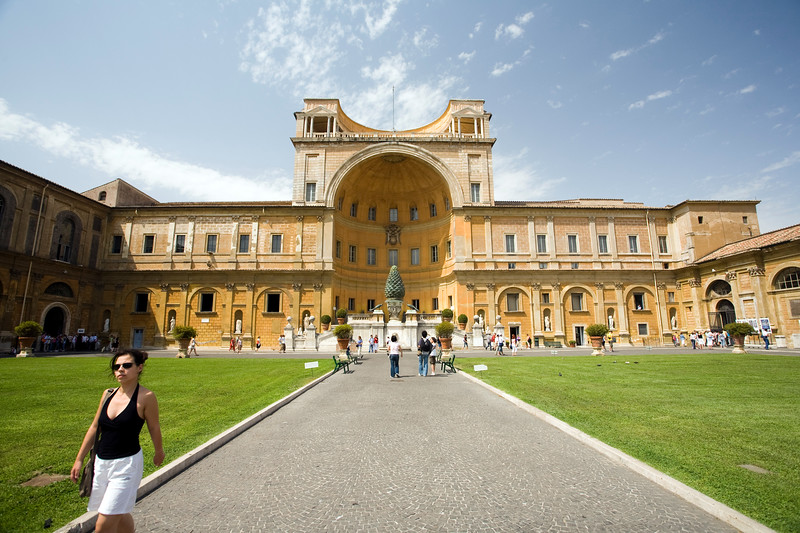 Courtyard of the pigna, Vatican Museums