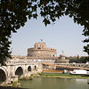 Castel Sant'Angelo framed by trees, Rome