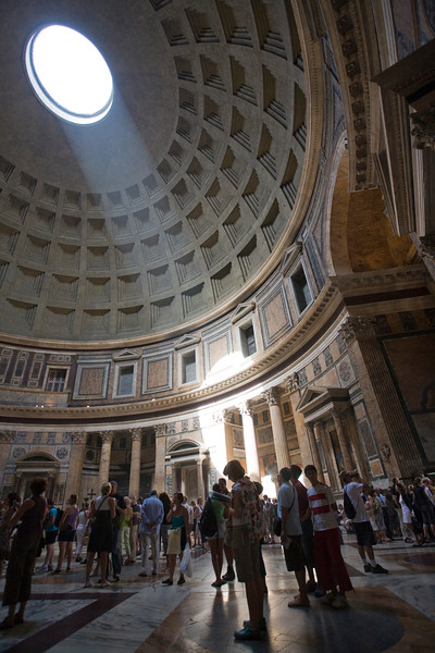The Pantheon dome with its oculus, Rome
