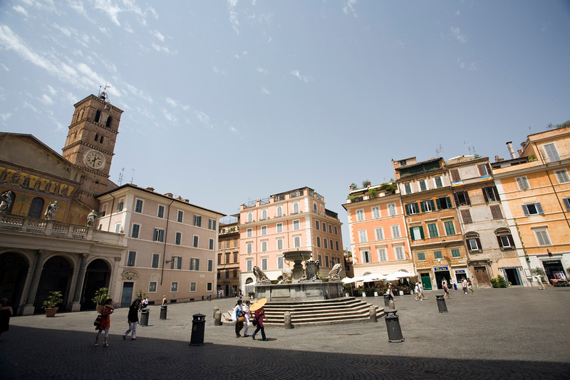Santa Maria in Trastevere square and basilica, Rome