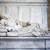 Innocent II tomb, by Vespignani (1689), Santa Maria in Trastevere basilica, Rome.