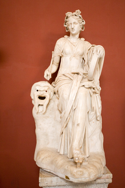 Seated muse, Thalia (Roman statue, 2nd century A.D.), Vatican Museums
